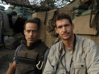 Journalists Sebastian Junger and Tim Heatherington.